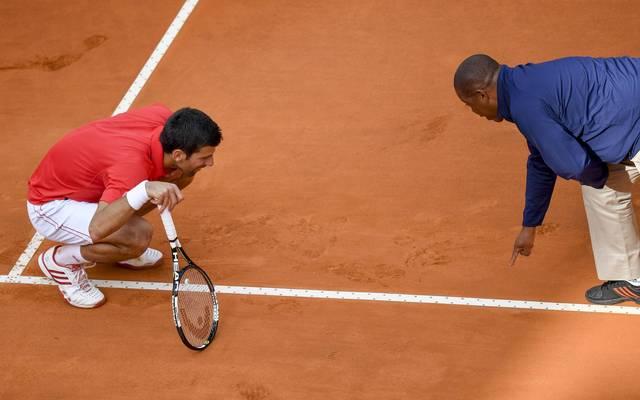 Novak Djokovic ist dafür bekannt, immer wieder mit den Schiedsrichtern zu diskutieren
