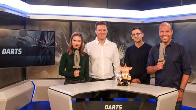 Hatte großen Anteil am Erfolg: Das On-Air-Team bei der Darts-WM