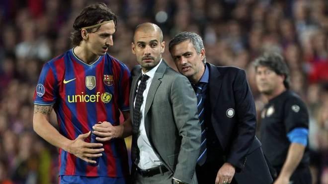 Zlatan Ibrahimovic (l.) und Pep Guardiola wurden nie die besten Freunde
