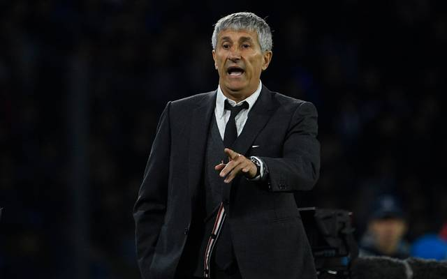 Barcelonas Trainer Quique Setien arbeitet seit Januar 2020 bei den Katalanen