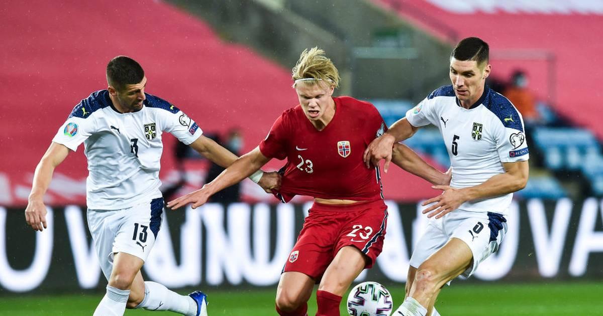 Europameisterschaft, Qualifikation: Norwegen - Serbien 1:2 n.V. - Haaland scheidet aus