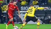 Franck Ribery (l.) konnte sich nur eine Halbzeit lang gegen Lukasz Piszczek und Co. in Szene setzen