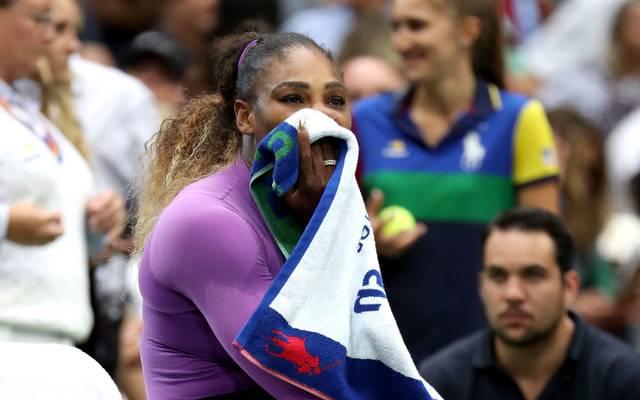 Serena Williams zeigt ihre Enttäschung nach dem verlorenen Finale der US Open 2019