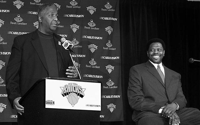 Ex-Knicks-Star Patrick Ewing mit seinem College-Coach John Thompson