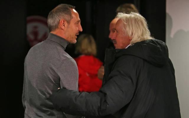 Dragoslav Stepanovic (r.) kann den Abschied von Adi Hütter verstehen