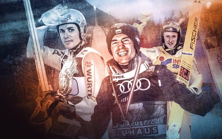Kamil Stoch hat bei der Vierschanzentournee den Rekord von Sven Hannawald mit vier Siegen eingestellt und sich damit unsterblich gemacht. Doch zählt der Pole damit auch bereits zu den besten Skispringern aller Zeiten? SPORT1 stellt die Top 10 vor