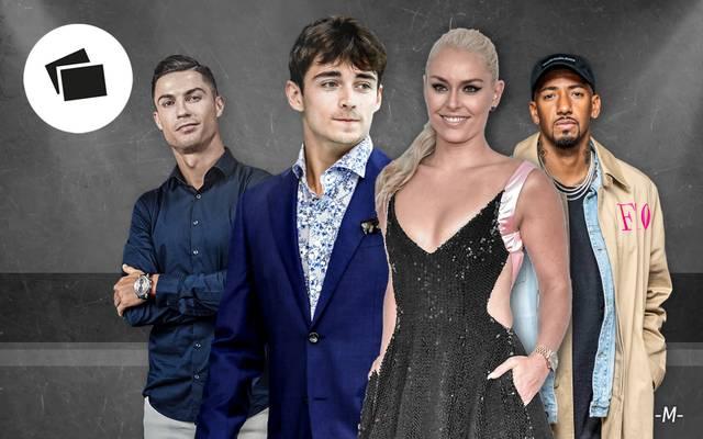 Charles Leclerc, Cristiano Ronaldo und Jerome Boateng sind unter die Mode-Designer gegangen
