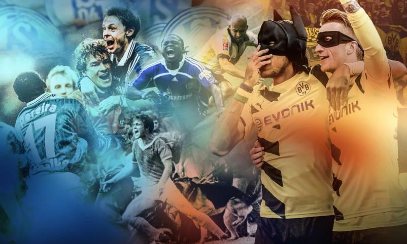 Zum 157. Mal geht es am Samstag (ab 18.30 Uhr im LIVETICKER) in einem Pflichtspiel um den Derbysieg zwischen Schalke und Dortmund. Das Duell der Erzrivalen aus dem Revier hat bereits unzählige Geschichten geschrieben und zahlreiche Helden hervorgebracht