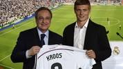 Nachdem es sich schon lange abgezeichnet hatte ist es nun offiziell. Toni Kroos wechselt von Bayern München zu Real Madrid. Am Donnerstag wurde er bei den Königlichen offiziell vorgestellt