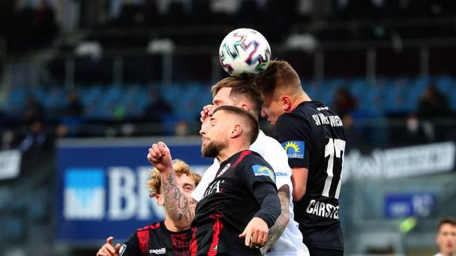 Der SV Wehen Wiesbaden setzt sich gegen den FC Hansa Rostock durch