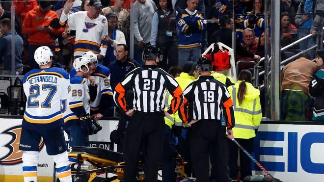 Die NHL-Partie zwischen Anaheim und St. Louis ist abgebrochen worden