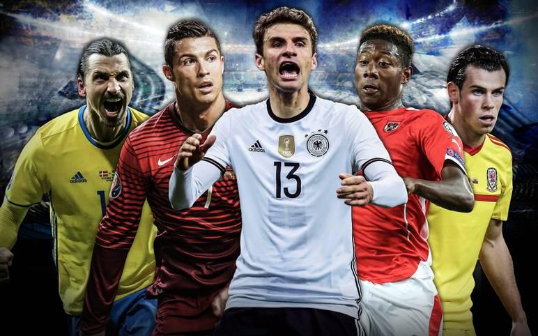 Von Cristiano Ronaldo bis Thomas Müller, von Zlatan Ibrahimovic bis Gareth Bale: Die EM 2016 in Frankreich wird eine Ansammlung von Superstars. SPORT1 stellt einen großen Namen von jedem der 24 Teilnehmerländer vor