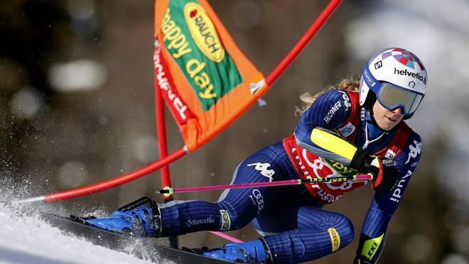 Die Italienerin Marta Bassino führt nach dem ersten Lauf
