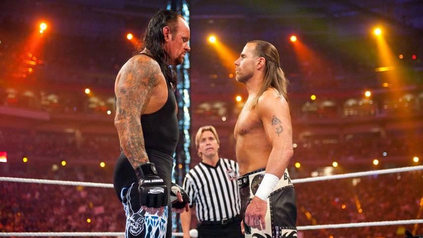 Undertaker vs. Michaels, Cena vs. Punk, Bret vs. Owen und ein Österreicher, der hoch einsteigt: SPORT1 zeigt die besten WWE-Matches aller Zeiten in Bildern.