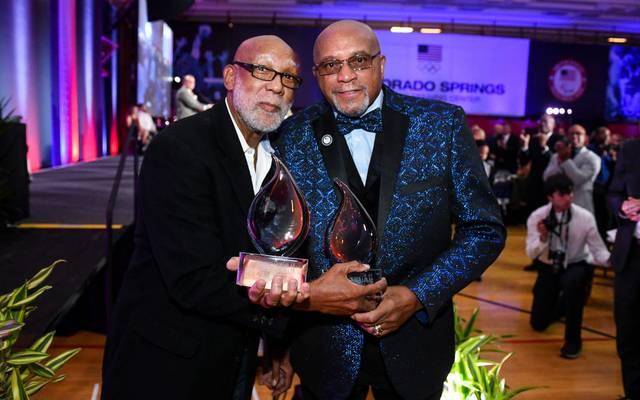 Tommie Smith (r.) und John Carlos sind bis heute für Bürgerrechte aktiv
