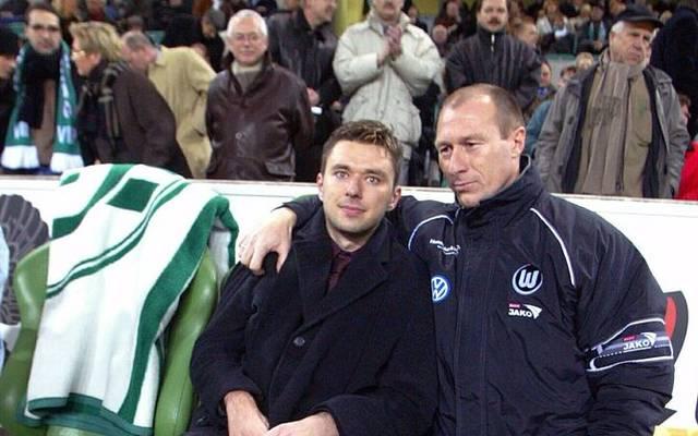 Krzysztof Nowak mit seinem früheren Trainer Wolfgang Wolf