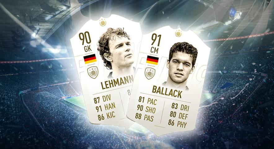 Auch in FIFA 19 wird es die beliebten ICON bzw. Legenden-Karten geben. Unter den Neulingen sind auch Deutsche wie Michael Ballack & Jens Lehmann zu finden