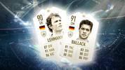 Auch in FIFA 19 wird es die beliebten ICON bzw. Legenden-Karten geben. Unter den Neulingen sind auch Deutsche wie Michael Ballack & Jens Lehmann zu finden.