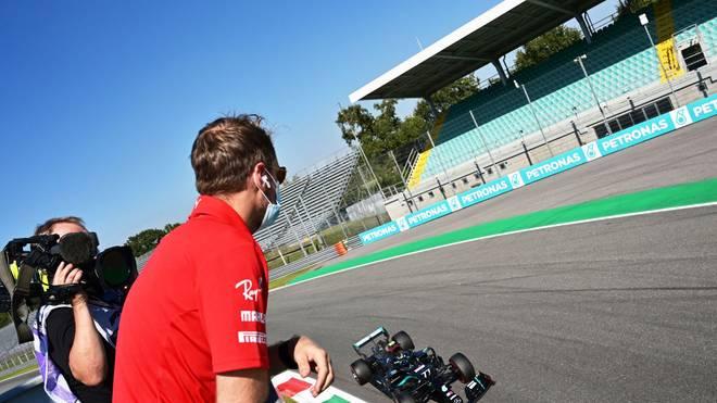 Sebastian Vettel beobachtete den Rest des Qualifyings von der Strecke aus