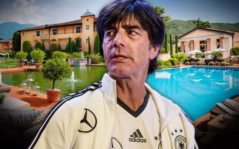 Am Dienstagnachmittag bezog die deutsche Fußball-Nationalmannschaft in Ascona ihr EM-Trainingslager. Der Weltmeister wurde am Lago Maggiore begeistert empfangen. SPORT1 zeigt, wo sich Jogis Jungs auf die EM vorbereiten