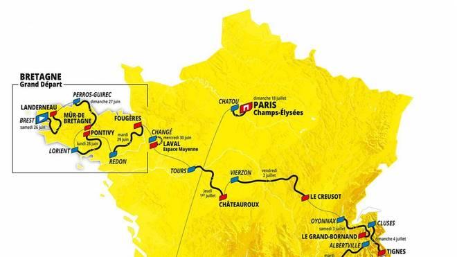 Tour de France 2021 - Strecke - Alle Etappen