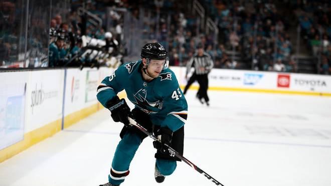 Lean Bergmann kassierte mit den San Jose Sharks eine Niederlage gegen Colorado