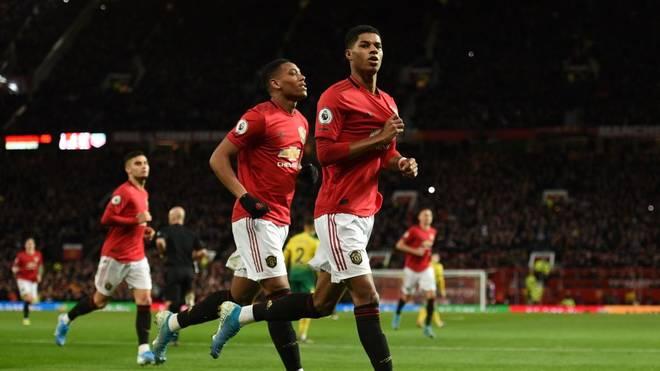 Manchester United löst die Pflichtaufgabe souverän. Marcus Rashford trifft doppelt