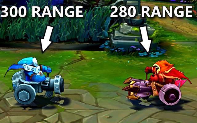 League of Legends: Blaue Cannon-Minions haben mehr Reichweite als rote