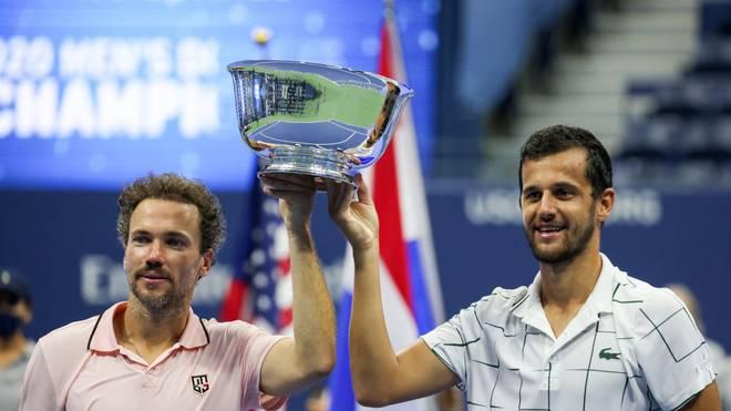 Mate Pavic (r.) und Bruno Soares gewannen das Finale in zwei Sätzen