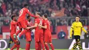 Der FC Bayern jubelt im Topspiel gegen den BVB