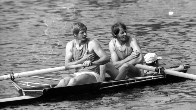 Wolfgang Gunkel (l.) holte bei den Olympischen Spielen 1972 in München Gold