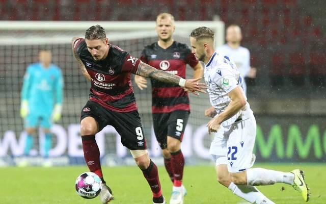 Der 1. FC Nürnberg gab gegen den Karlsruher SC wieder eine Führung aus der Hand