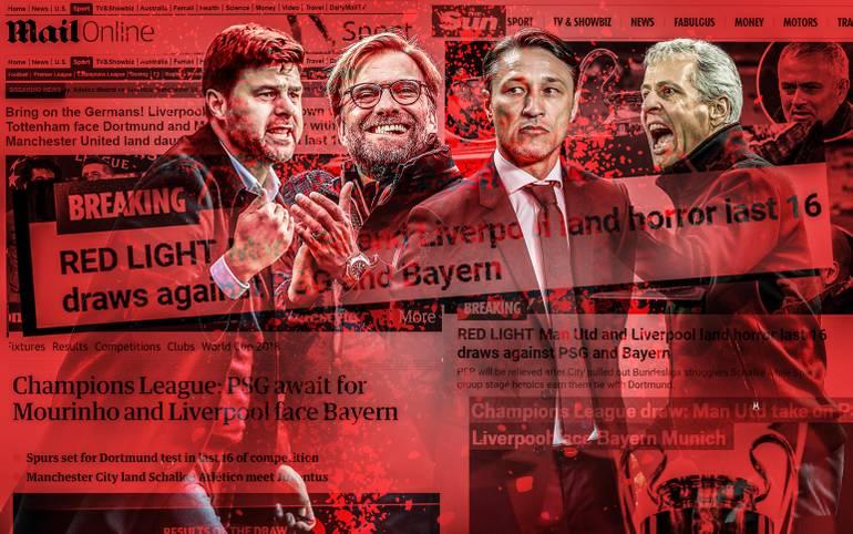 Schalke gegen Manchester City, Tottenham gegen Dortmund und Liverpool gegen Bayern - im Achtelfinale der Champions League kommt es zum großen deutsch-englischen Aufeinandertreffen. SPORT1 hat die Pressestimmen zur Auslosung