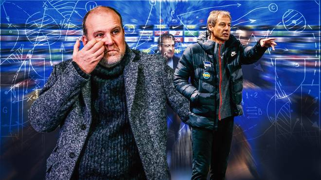 Jörg Schmadtke (l.) startete 2001 seine Karriere als Funktionär. Er hat natürlich Herthas Trainer-Entscheidung für Jürgen Klinsmann verfolgt