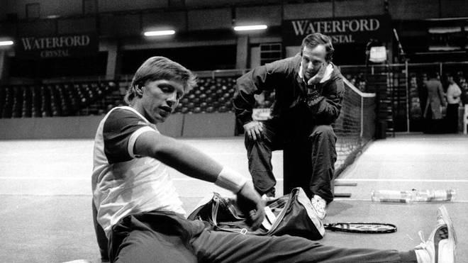 Boris Becker arbeitete erfolgreich mit Trainer Bob Brett zusammen