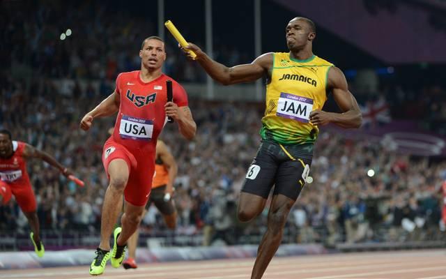 Angeführt von Usain Bolt blieb die Staffel Jamaikas bei den Olympischen Spielen 2012 als erste jemals unter 37 Sekunden