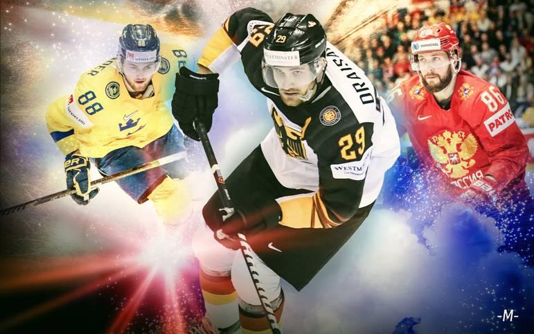 Die Eishockey-WM geht in die heiße Phase. Acht Teams kämpfen noch um die Krone (Alle Viertelfinal-Spiele ab 16 Uhr LIVE im TV auf SPORT1 und im LIVESTREAM). Wer holt sich den WM-Titel? SPORT1 checkt die Favoriten und Chancen der Stars im Powerranking