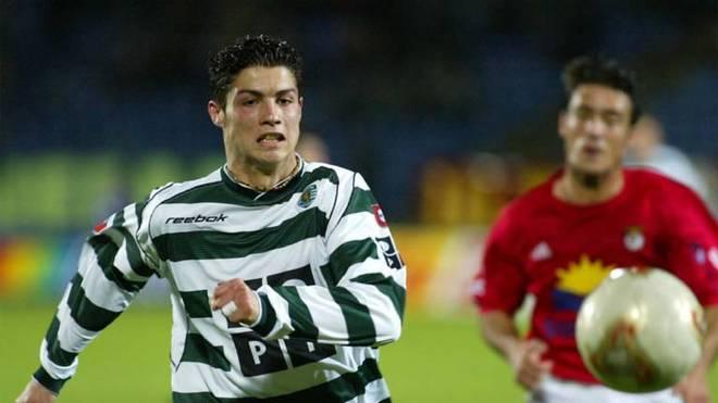 Cristiano Ronaldo im Trikot von Sporting Lissabon