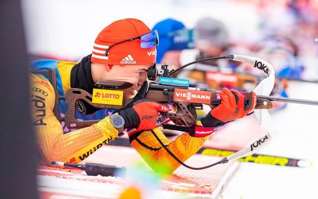 Die Deutsche Biathlon-Staffel erreichte nur Platz fünf - weil Philipp Horn ein schwaches Schießen ablieferte