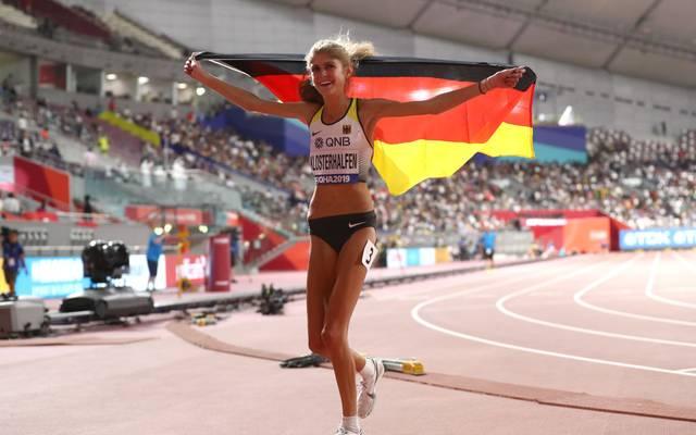 Konstanze Klosterhalfen gewann bei der WM in Doha die Bronzemedaille