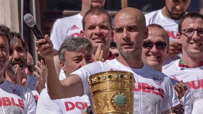 Pep Guardiola gewann mit den Bayern dreimal das Double