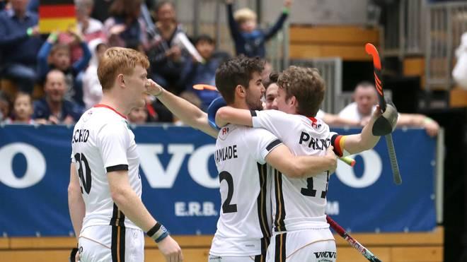 Die deutsche Nationalmannschaft sichert sich den Titel in der Halle