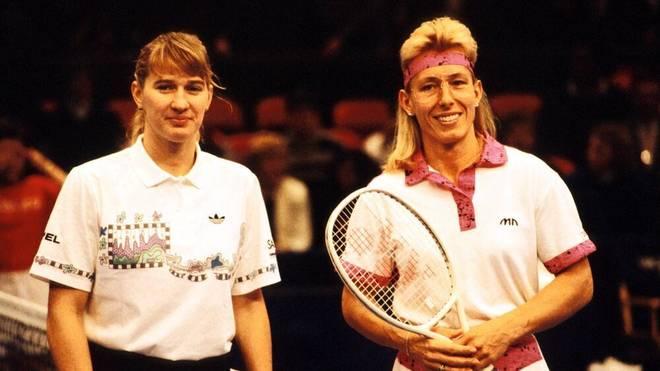 Erst Steffi Graf (l.) konnte die Dominanz von Martina Navratilova brechen