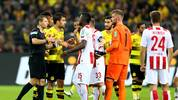 Das Tor von Sokratis sorgte im Spiel zwischen Dortmund und Köln für große Proteste