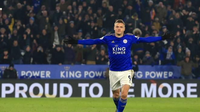 Jamie Vardy ist bei Leicester City derzeit nicht zu stoppen