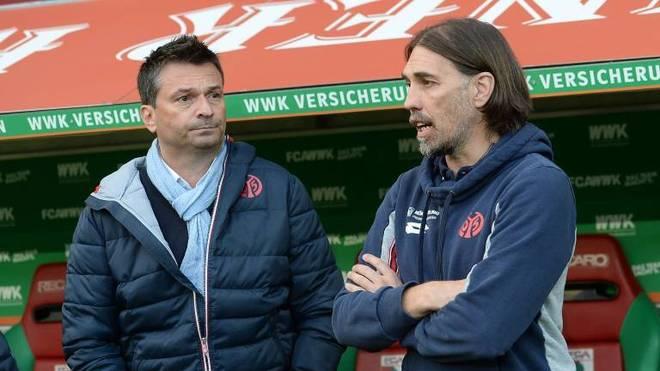 Martin Schmidt unterstützt als Mainzer Sportdirektor Christian Heidel