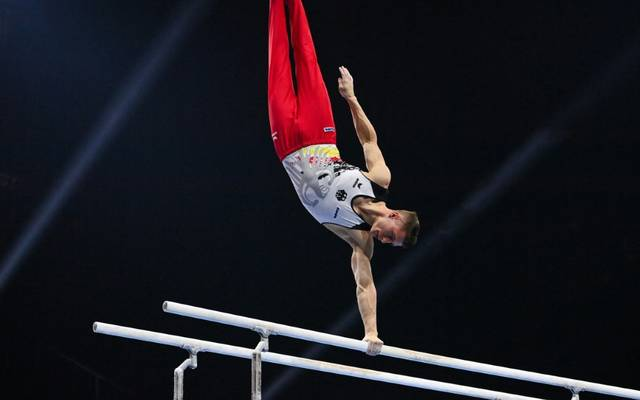 Kunstturner Lukas Dauser gewinnt die Bronzemedaille