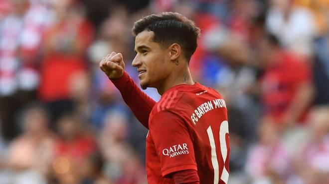 Philippe Coutinho feiert seinen ersten Treffer im Bayern-Trikot
