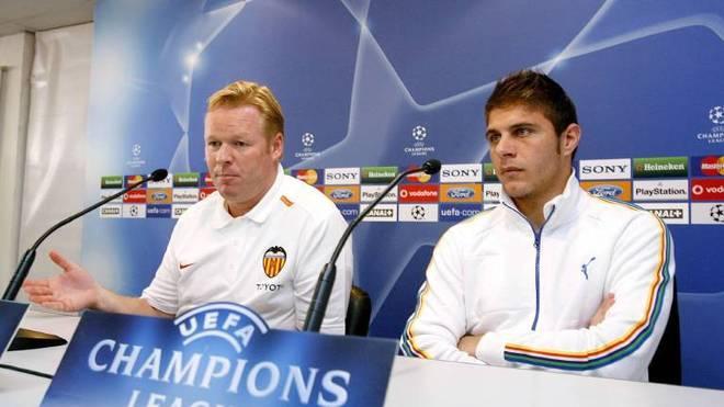 Trainer Ronald Koeman (li.) und Joaquin arbeiteten einst gemeinsam für Valencia