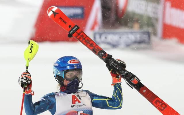 Mikaela Shiffrin gewinnt in Flachau - und schreibt dabei Geschichte